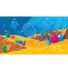 Game Underwater Background vector image
