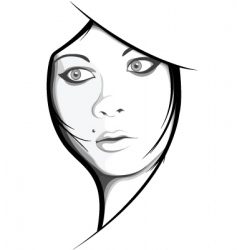girls face vector image