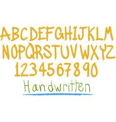 hand witten fun alphabet vector image