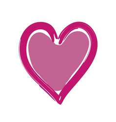 Heart pink bright icon sign vector image