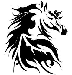 Horse tattoo vector