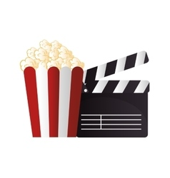 icon pop corn cinema design vector image