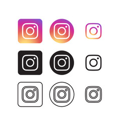 Instagram social media icons vector