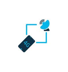 internet icon colored symbol premium quality vector image