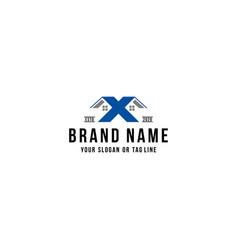 Letter x home logo design vector