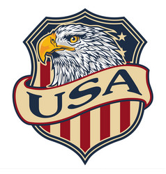 Logo eagle head americas mascot vector