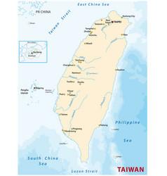 map republic china taiwan vector image