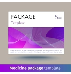Medicine package template vector