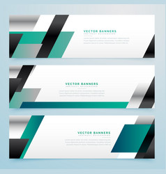 Modern business style banners set in geometric vector