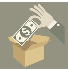 Money in box vector image