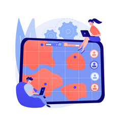 Multiplayer online battle arena abstract concept vector
