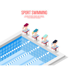 Olympic pool swimming background vector