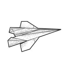 origami paper plane sketch vector image