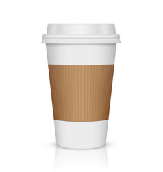 Paper coffee cup isolated on white vector