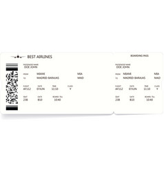 Pattern of a boarding pass and air ticket vector