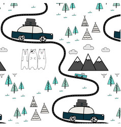 Pattern with adventure concept vector