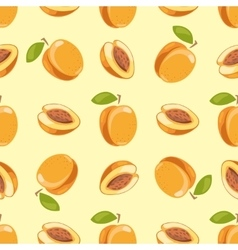peach seamless pattern yellow background vector image