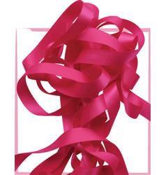 pink ribbon over white background design element vector image