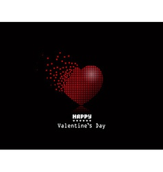 pixel heart Valentine Day background vector image