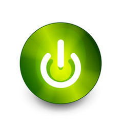 power button icon start symbol vector image