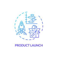 Product launch blue gradient concept icon vector