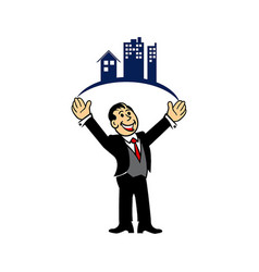 Property businessman vector