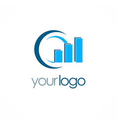 round business finance progress logo vector image