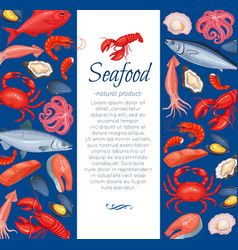 Seafood layout design vector