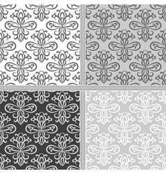 Seamless monochrome ethnic pattern vector image