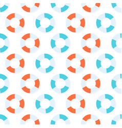 seamless pattern with red and blue lifebuoys vector image