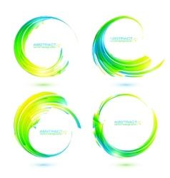 Set of colorful circle abstract frames vector