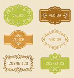 set of linear design elements vector image