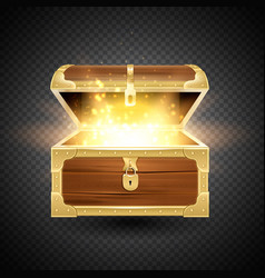 shining chest transparent composition vector image
