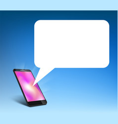 smartphone with speech bubble chat on screen vector image