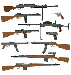 Soviet weapons of world war ii vector