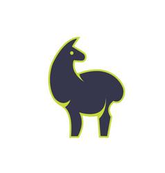 stylish standing llama vector image