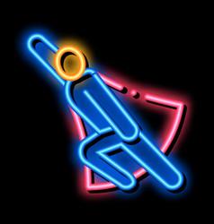 Super hero readiness neon glow icon vector