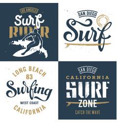 Surfing set 001 vector