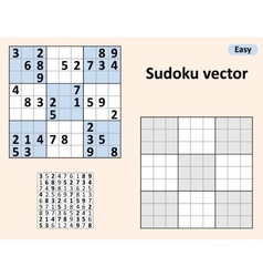 Symmetrical Sudoku with answers vector
