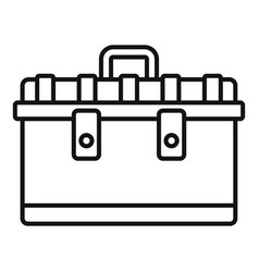 Tool box icon outline style vector