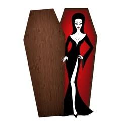 vampire woman vector image