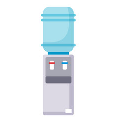 Water plastic cooler flat icon gray water vector