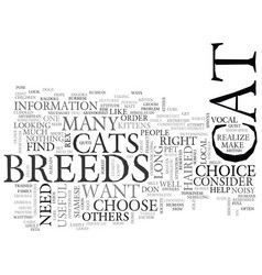 Which these cat breeds is right one vector