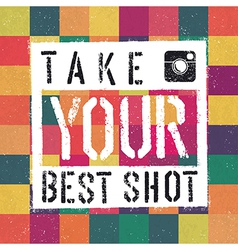 best shot retro poter vector image vector image