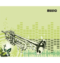 concert poster with trumpet vector image