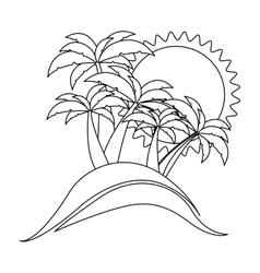 contour background beach flat icon vector image