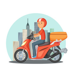 fast delivery concept urban vector image