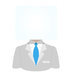 Man with a white paper sheet vector image vector image