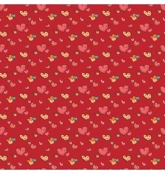 seamless heart pattern love background vector image