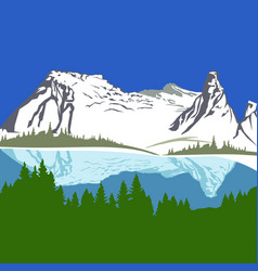 view with mountains and forest vector image vector image